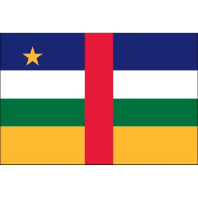 2ft. x 3ft. Central African Republic Flag for Indoor Display