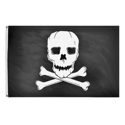 12 x 18 in. Jolly Roger Flag