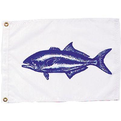 Blue Fish Flag