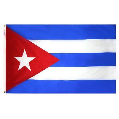 2ft. x 3ft. Cuba Flag with Canvas Header
