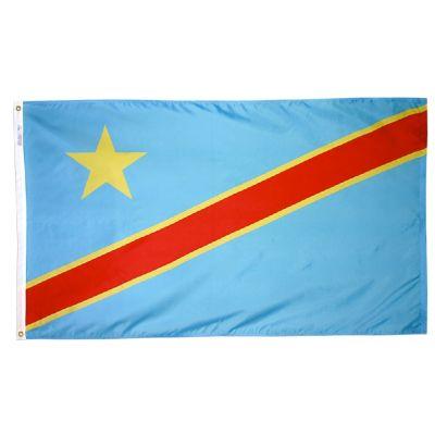 4ft. x 6ft. Democratic Republic Congo Flag w/ Line Snap & Ring
