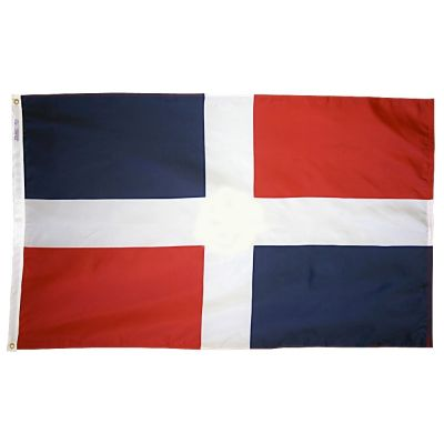 4ft. x 6ft. Dominican Republic Flag No Seal w/ Line Snap & Ring
