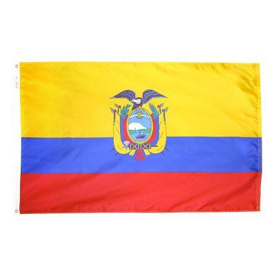 4ft. x 6ft. Ecuador Flag Seal w/ Line Snap & Ring