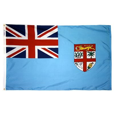 2ft. x 3ft. Fiji Flag with Canvas Header