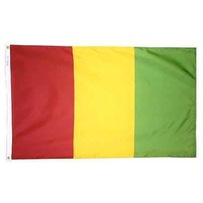 4ft. x 6ft. Guinea Flag w/ Line Snap & Ring