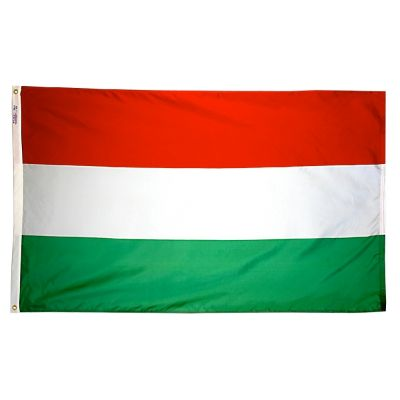 3ft. x 5ft. Hungary Flag with Brass Grommets