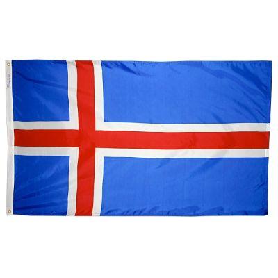 4ft. x 6ft. Iceland Flag w/ Line Snap & Ring
