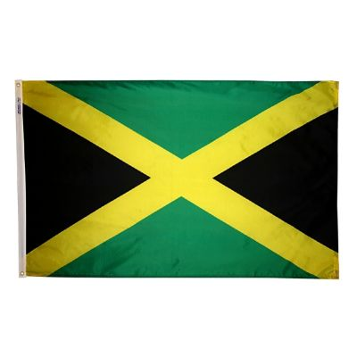 2ft. x 3ft. Jamaica Flag with Canvas Header