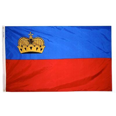 4ft. x 6ft. Liechtenstein Flag Strip w/ Line Snap & Ring