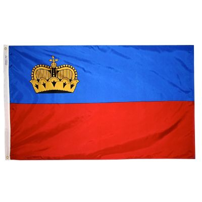 3ft. x 5ft. Liechtenstein Flag with Brass Grommets