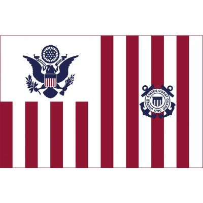 30 in. x 48 in. U.S. Coast Guard Ensign - Size 4