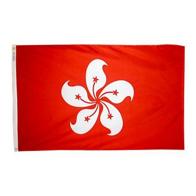 4ft. x 6ft. Xian Gang Hong Kong Flag w/ Line Snap & Ring