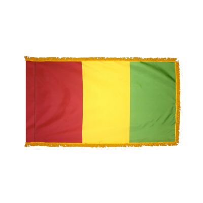 4ft. x 6ft. Guinea Flag for Parades & Display with Fringe