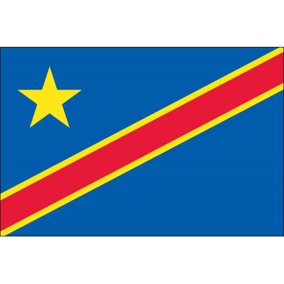 4ft. x 6ft. Democratic Republic Congo Flag for Parades & Display