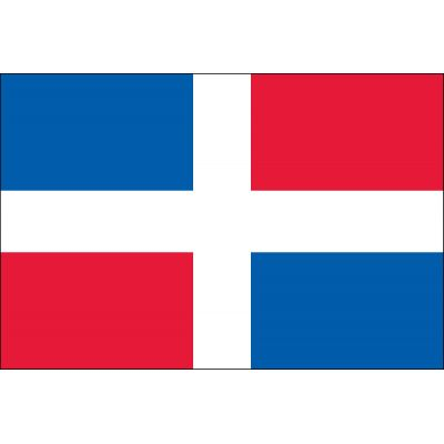 3ft. x 5ft. Dominican Republic Flag No Seal for Parades & Display