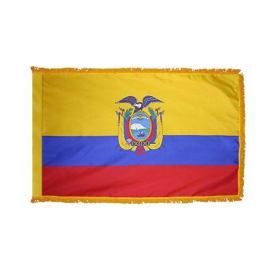 2ft. x 3ft. Ecuador Flag Seal Fringed for Indoor Display