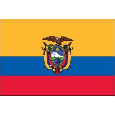 2ft. x 3ft. Ecuador Flag Seal for Indoor Display