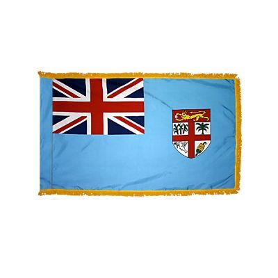 2ft. x 3ft. Fiji Flag Fringed for Indoor Display