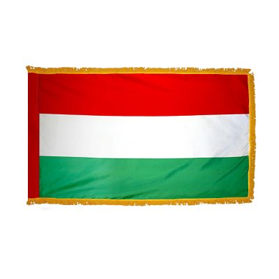 2ft. x 3ft. Hungary Flag Fringed for Indoor Display