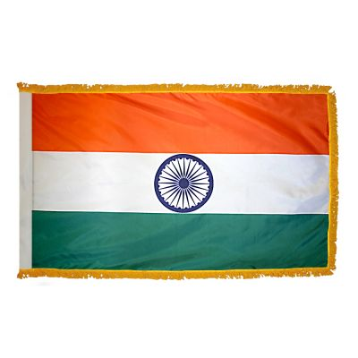 4ft. x 6ft. India Flag for Parades & Display with Fringe