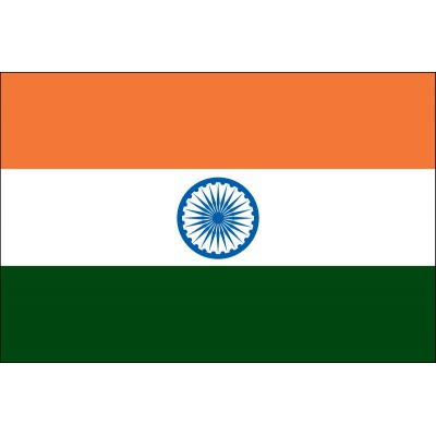 4ft. x 6ft. India Flag for Parades & Display