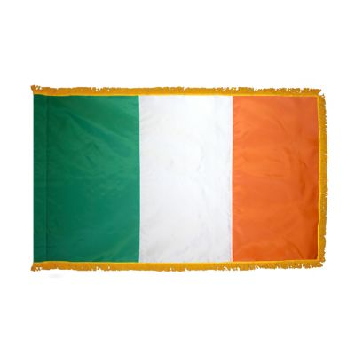 2ft. x 3ft. Ireland Flag Fringed for Indoor Display
