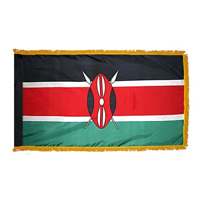 4ft. x 6ft. Kenya Flag for Parades & Display with Fringe