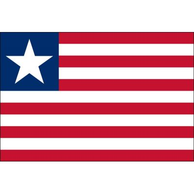 2ft. x 3ft. Liberia Flag for Indoor Display
