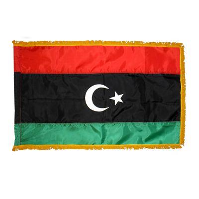 3ft. x 5ft. Libya Flag for Parades & Display with Fringe