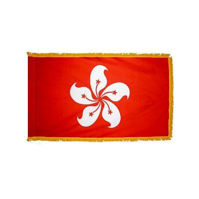 4ft. x 6ft. Xian Gang-Hong Kong Flag for Parades & Display w/Fringe