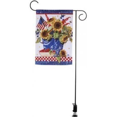 Deck Mount Garden Flag Stand