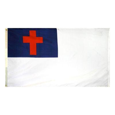 3ft. x 5ft. Christian Flag Sewn
