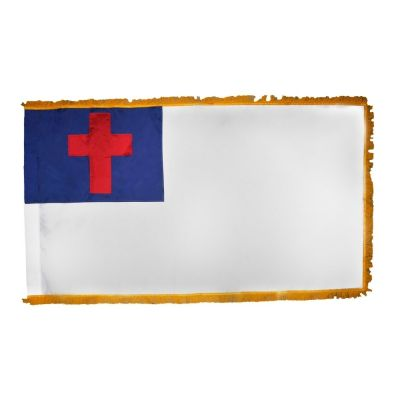 3ft. x 5ft. Christian Flag Sewn for Parades/Display with Fringe