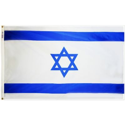 4ft. x 6ft. Israel Flag w/ Line Snap & Ring