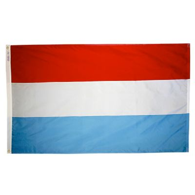 3ft. x 5ft. Luxembourg Flag with Brass Grommets
