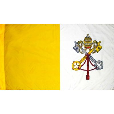3ft. x 5ft. Papal Flag for Parades & Display