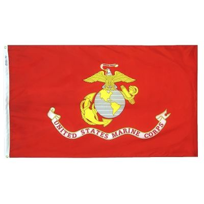 3ft. x 5ft. Marine Corps Flag Outdoor Woven Polyester
