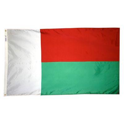 2ft. x 3ft. Madagascar Flag with Canvas Header