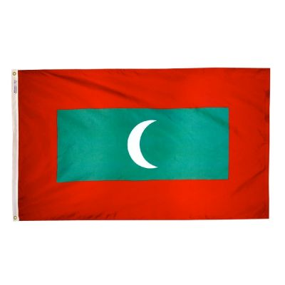 2ft. x 3ft. Maldives Flag with Canvas Header