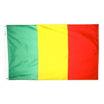 4ft. x 6ft. Mali Flag w/ Line Snap & Ring