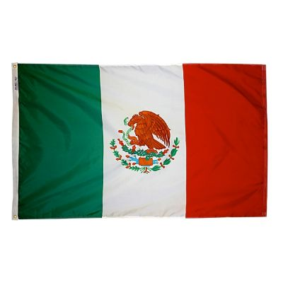 4ft. x 6ft. Mexico Flag w/ Line Snap & Ring