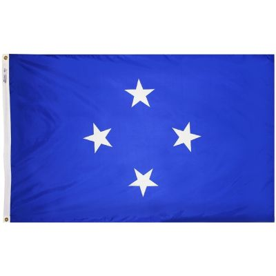 2ft. x 3ft. Micronesia Flag with Canvas Header