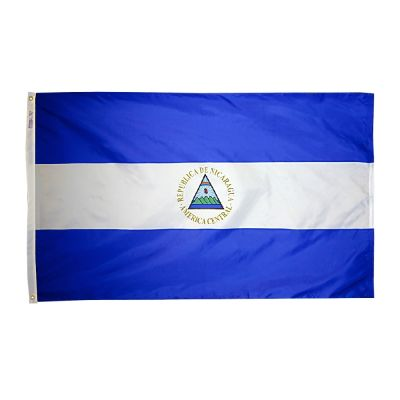4ft. x 6ft. Nicaragua Flag Seal w/ Line Snap & Ring