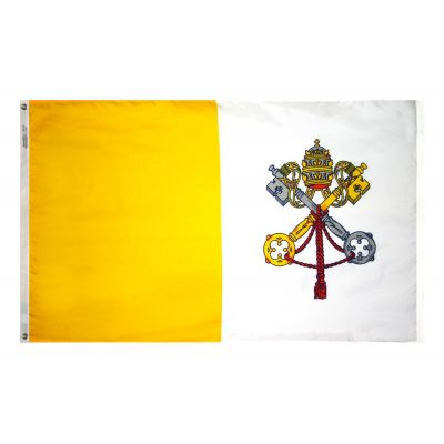 5ft. x 8ft. Papal Flag Dyed