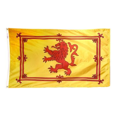 2ft. x 3ft. Scottish Rampant Lion Flag with Canvas Header