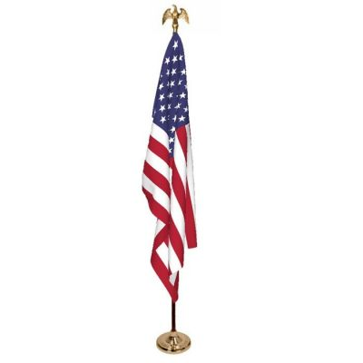3ft. x 5ft. U.S. Flag Set No Fringe on Flag
