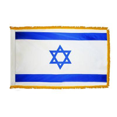 2ft. x 3ft. Israel Flag Fringed for Indoor Display