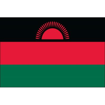 4ft. x 6ft. Malawi Flag w/ Line Snap & Ring