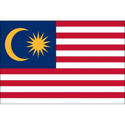 2ft. x 3ft. Malaysia Flag for Indoor Display
