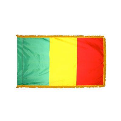 2ft. x 3ft. Mali Flag Fringed for Indoor Display